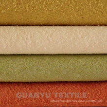 Synthetic Suede Leather 100% Polyester Fabric for Home Decoration