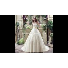 Ebay, Aliexpress venda quente custom made whote cor do laço slim-line alibaba vestido de noiva com vestido de baile