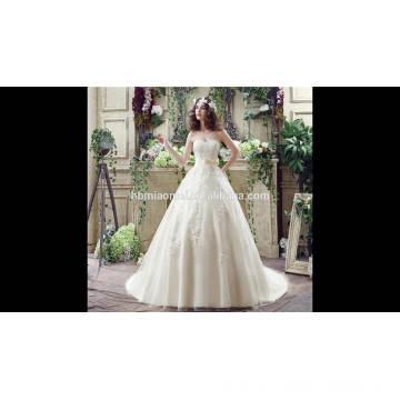 Ebay, Aliexpress heißer Verkauf nach Maß Whote Farbe Spitze Slim-Line-Alibaba Hochzeitskleid mit Ballkleid