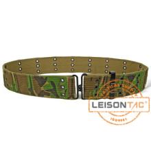 Cinturón militar de lona de camuflaje táctico con estándar ISO