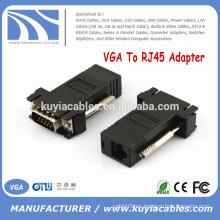 VGA de alta calidad a RJ45 Extender VGA macho a LAN CAT5 CAT6 Cable de red RJ45 Conector hembra adaptador