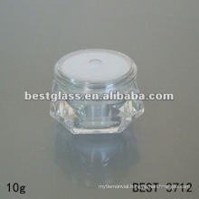 diamond cosmetic jar