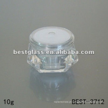 frasco cosmético de diamante