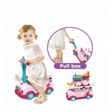 Multi Funtion Kids Ride On Car With Play House Cooking Set Toys With Best Quality