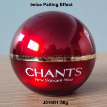 50g Red Ball Shape Acrylic Cream Jar