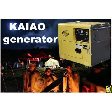 1 an Guranteed 5kw silencieux diesel générateur, 5kVA Kaiao générateur