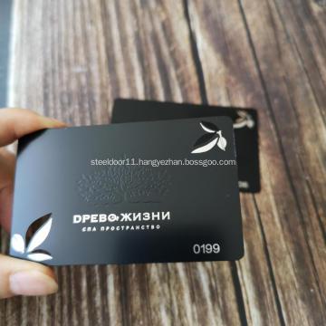 Mirror Luxury Engraved Stainless Steel Metal Business Card