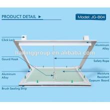 Porte d'accès verrouillable en aluminium
