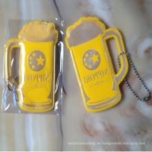Günstige Tasse Form Werbung reflektierende Schlüsselanhänger für Werbegeschenk