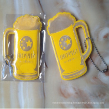 Cheap cup shape advertising reflective keychain for giveaway
