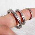 3pcs titane trousseau granit-lavage processus personnel accessoires porte-clés