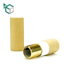 Top Capempty Texture Paper Flip Lipstick Tubes Contenedor con espejo