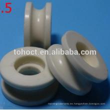 Ambos extremos con collar textil ojal de hilo de cerámica