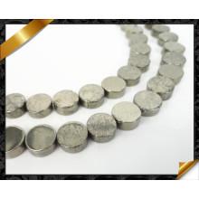 Natürliche hochwertige flache Münze runde Perlen Mode Stein Großhandel (GB0104)