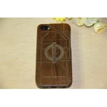 Caja de madera barata fina del teléfono de la contraportada del grano de madera del precio barato para el iPhone