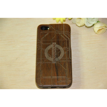 Cheap Price Ultra Thin Wood Grain Wood Back Cover Phone Case for iPhone