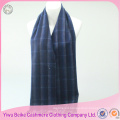 2017 hot sale blue stripe wool shawl