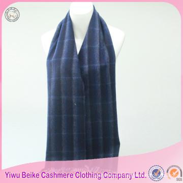 2017 vente chaude châle de laine à rayures bleues