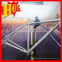 Quadro completo da bicicleta de montanha do titânio da suspensão