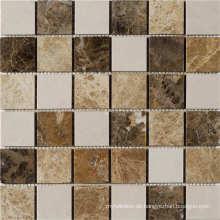 8mm Glas und Stein und Harz Random Streifen Mosaik