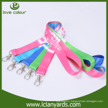 Sample free custom colorful polyester dye sublimation logo printed lanyard