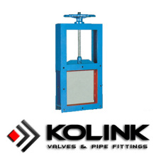 Factory supplied for Slurry Gate Valve Manufacturer Square Guillotine Valve (Slide Gate Valve) supply to French Polynesia Exporter