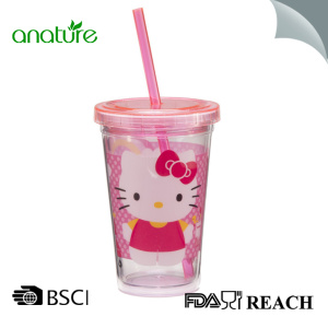 Factory Free sample for China Plastic Tumbler,Double Wall Plastic Tumbler,Plastic Double Wall Tumbler Supplier Double Wall Plastic Tumbler With Straw And Lid export to Turks and Caicos Islands Exporter