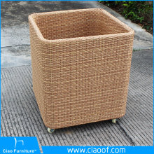 Factory Direct Sale 100% handmade Plastic Rattan Towel Basket