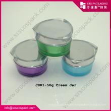 Wholesale Unique Heart Shape Luxury Purple Cosmetic Jar
