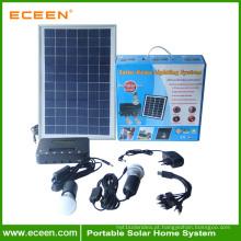Sistema de luz solar leve com uso doméstico portátil