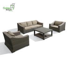 4pcs Aluminium Hotel Projekt Sofa Set Freizeit
