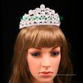 Corona directa de la piedra del claro de la tiara del Rhinestone de la fábrica para nupcial