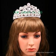 Factory Direct Rhinestone Tiara Clear Stone Crown für Braut