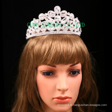 Factory Direct Rhinestone Tiara Clear Stone Crown pour nuptiale