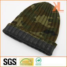 100% Acrylic Camouflage Reversible Knitted Hat
