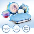BPA free silicone plastic jar seal lids