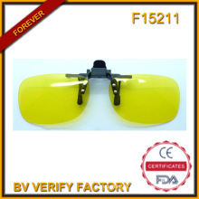 F15211 Polarised Lens Clip on Glasses Flip up Glass