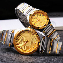 Waterproof Quartz Metal Wrist Watches for Men and Ladies