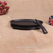 Utensílios de cozinha de ferro fundido de 25 cm com alça removível