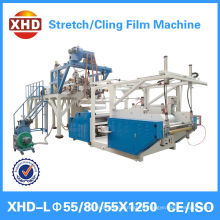 high speed three layer casting stretch film extruder pe stretch film production line Quality Assured