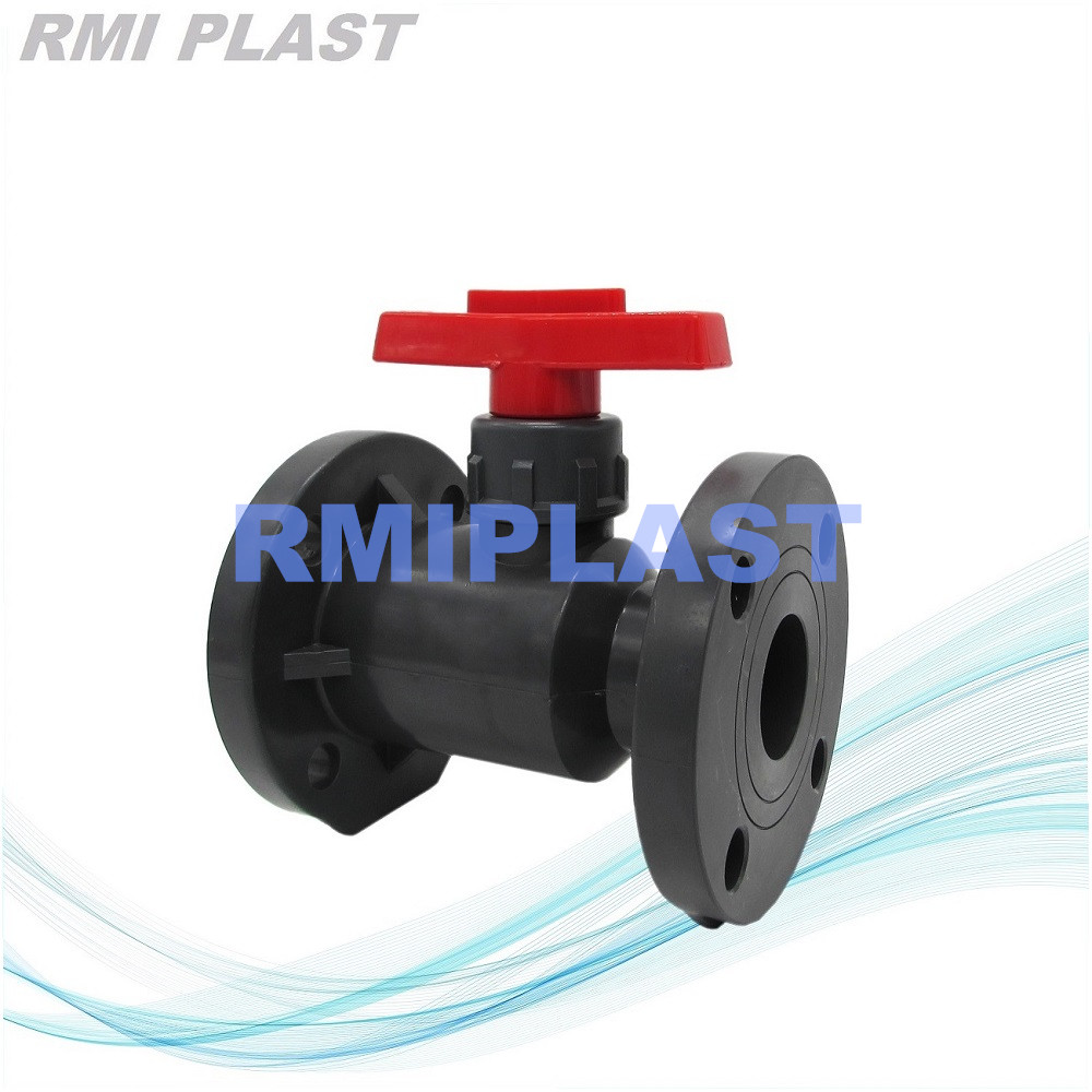 Pvc Ball Valve Flange End Lever Type 1