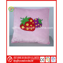 Hot Sale Plush Soft Square Cushion with Strawberry
