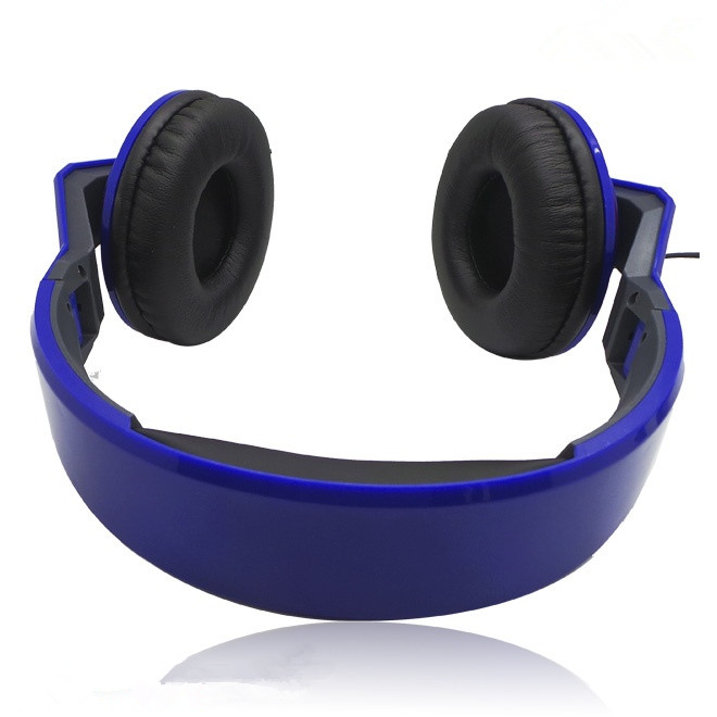 blue soft earphone
