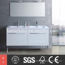 High gloss new modern double sink bathroom vanity