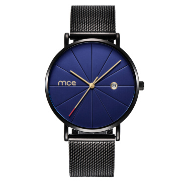 Custom Minimalist Alloy Case Quartz Watches for Men