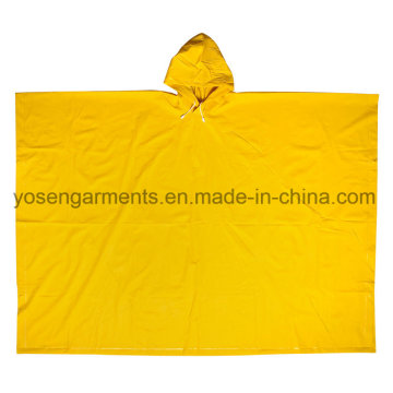 PVC Rainwear Raincoat Rainsuit Outdoor Workwear Rain Cloak Poncho (RWB08)