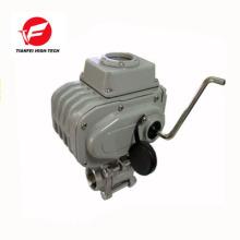 Válvula de controle de fluxo de água de 3 vias 0-10v 4-20ma