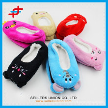 Winter indoor warm cute ear coral velvet sock children's slipper