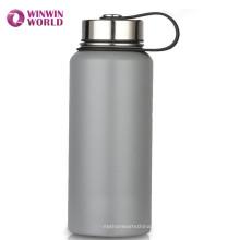Botella de agua aislada para requisitos particulares del acero inoxidable del vacío de la boca de los deportes modificados para requisitos particulares 22oz
