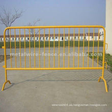 Pvc barrera de control de muchedumbre de metal pintado